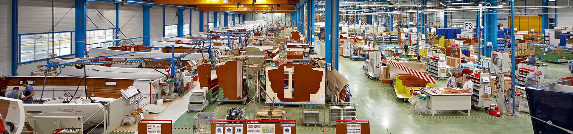 Beneteau Produktionshalle