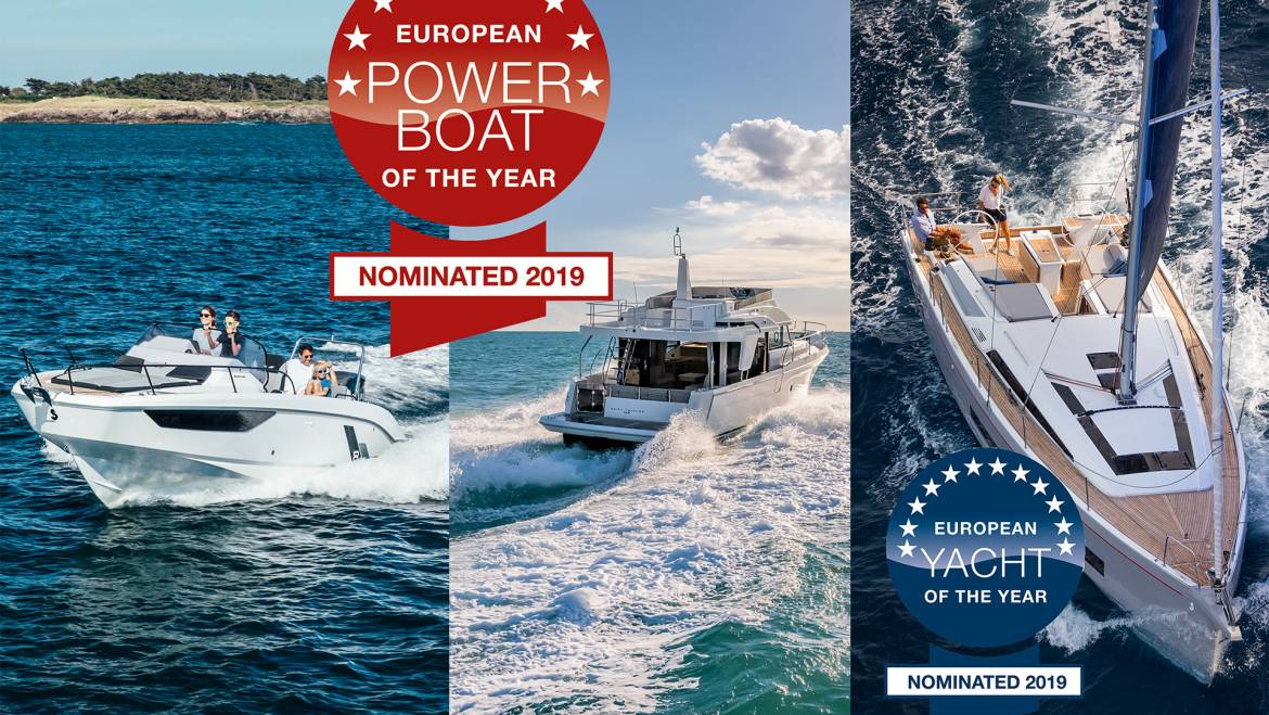 EUROPEAN POWERBOAT/YACHT OF THE YEAR – gleich drei Nominierungen für Bénéteau