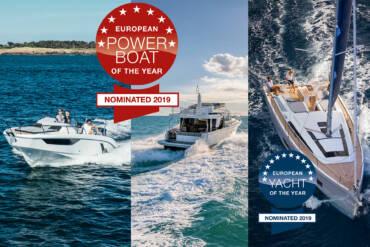 EUROPEAN POWERBOAT/YACHT OF THE YEAR – gleich drei Nominierungen für Bénéteau